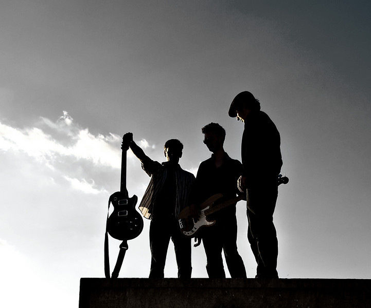 Silhouette of the band